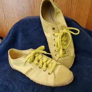 Calvin Klein lime green tennis style shoes